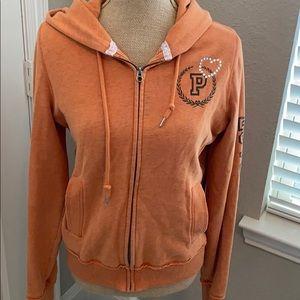 PINK longhorn zip hoodie